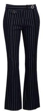 Derek Lam 10 Crosby Velvet Stripe Cropped Trousers