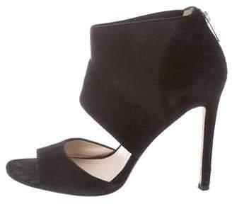 KORS Suede Peep-Toe Sandals
