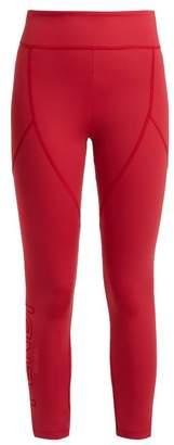 Fendi Roma Logo Print Leggings - Womens - Red