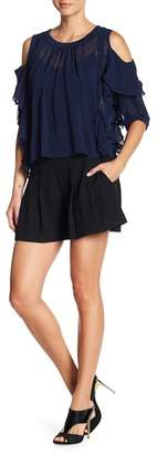 Rachel Roy Pleated Shorts