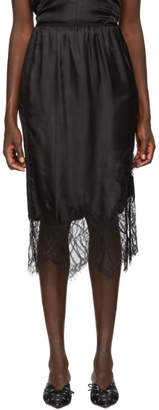 Helmut Lang Black Lace Slip Skirt