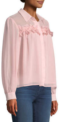 Endless Rose Ruffled Button-Front Blouse