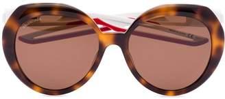 Balenciaga Eyewear tortoiseshell-effect round sunglasses