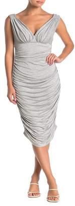 Norma Kamali Tara Ruched Bodycon Mini Dress