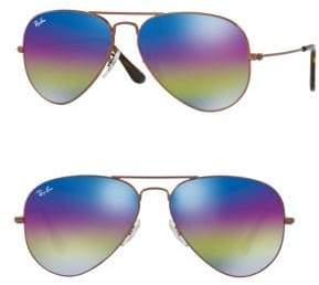 Ray-Ban Mirrored Aviator Metal Sunglasses