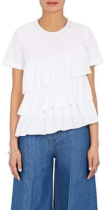 Co Women's Ruffle Cotton Swing Top $325 thestylecure.com