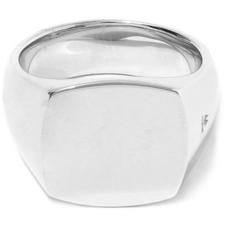 Tom Wood Silver Polished Cushion Ring