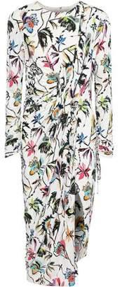 Jason Wu Wrap-Effect Floral-Print Jersey Dress