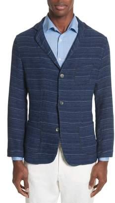 Eidos Napoli Nicola Barre Stripe Cotton & Linen Jacket