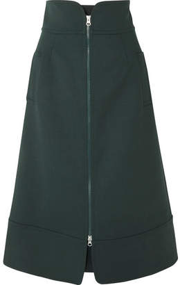 Sea Cady Midi Skirt - Forest green