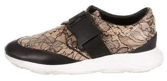 Christopher Kane Floral Print Low-Top Sneakers