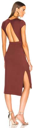 Enza Costa Jersey Open Back Midi Dress