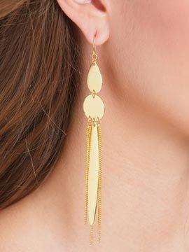 Chain Mix Linear Earrings