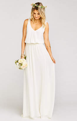 Show Me Your Mumu Kendall Maxi Dress ~ Wedding Cake Chiffon
