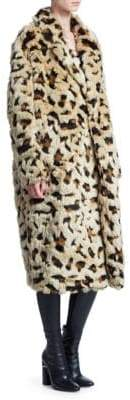 Junya Watanabe Animal-Print Jacquard Faux Fur Coat