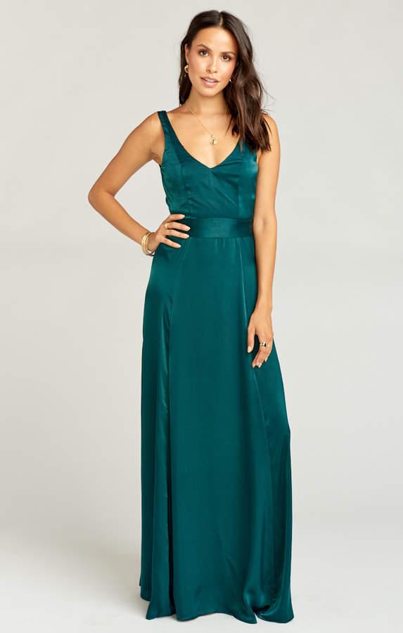 Show Me Your Mumu Jenn Maxi Dress ~ Dark Emerald Sheen