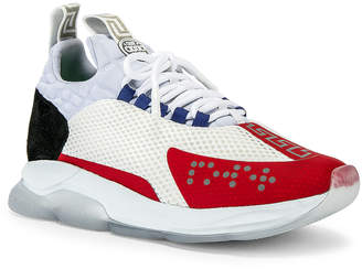 Versace Sport Sneakers in Black & Grey & Red | FWRD