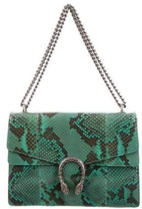 Gucci Dionysus Medium Snakeskin Shoulder Bag Green Dionysus Medium Snakeskin Shoulder Bag