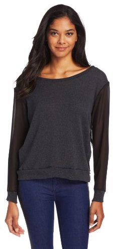 LnA Women's Camille Sweater with Chiffon Details
