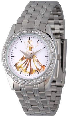 DISNEY PRINCESS Disney Princess Cinderella Womens Silver Tone Bracelet Watch-Wds000169