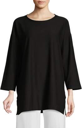 Eileen Fisher Split Hem Pullover Tunic