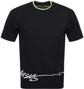 Versace Logo T Shirt Black