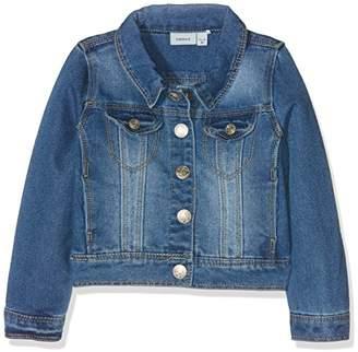 Name It Girl's NITSTAR RIKA DNM JACKET NMT NOOS Jacket, Blue (Medium Blue Denim)
