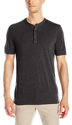 Michael Stars Men's Short Sleeve Bamboo Jersey Henley Shirt