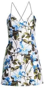Alice + Olivia Women's Tayla Floral Mini Dress - Off White/Multi - Size 0