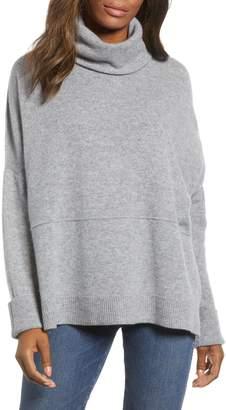 Caslon Off Duty Wool & Cashmere Turtleneck Sweater
