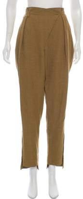 Chloé Silk High-Rise Pants