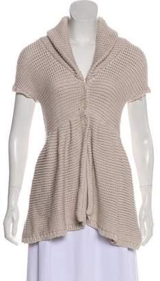 Alice + Olivia Knit Short Sleeve Cardigan