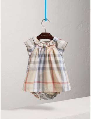 Burberry Check Cotton Poplin Dress with Bloomers