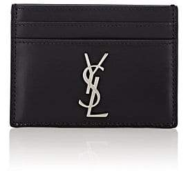 Saint Laurent Men's Monogram Leather Card Case - Black