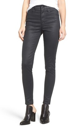 Levi's ® 'Mile High' High Rise Super Skinny Jeans (Coated Onyx) $98 thestylecure.com