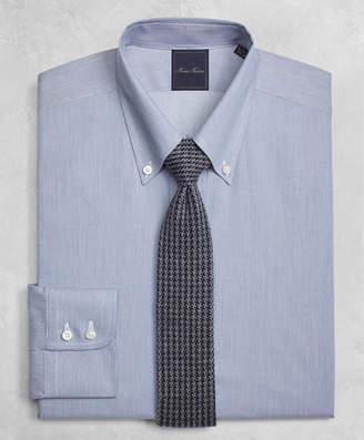 Brooks Brothers Golden Fleece Regent Fitted Dress Shirt, Button-Down Collar Micro-Ground-Stripe