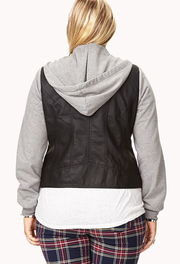 Forever 21 FOREVER 21+ Cool-Girl Faux Leather Jacket