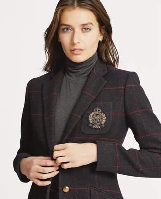 Ralph Lauren Bullion-Patch Tweed Blazer
