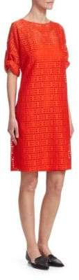 Akris Punto Lace Boatneck Shift Dress