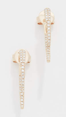 Ef Collection 14k Diamond Hook Earrings