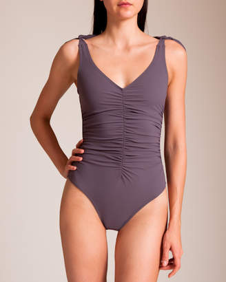 Karla Colletto Barcelona V-Neck U-Wire Tank Swimsuit