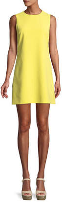 Alice + Olivia Coley Crewneck Sleeveless A-Line Mini Dress