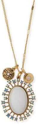 Sequin Celestial Crystal Pendant Necklace