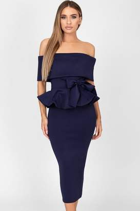 Bardot Cari's Closet Tammy Navy Midi Dress