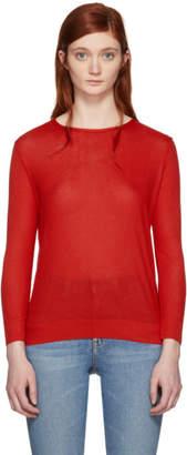 A.P.C. Red Long Sleeve Laya T-Shirt