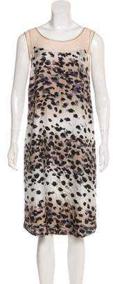 Chris Benz Printed Shift Dress Grey Printed Shift Dress