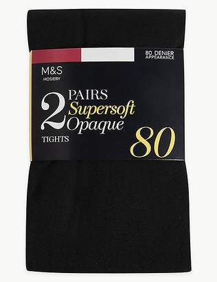 Marks and Spencer 2 Pair Pack 80 Denier Supersoft Tights