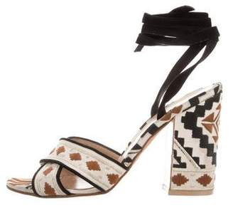Gianvito Rossi Cheyenne Embroidered Sandals