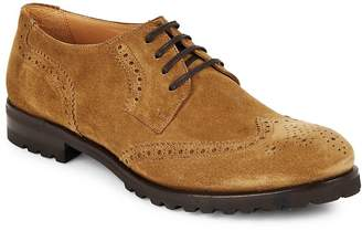 Harry's of London Men's Suede Wingtip Lace-Up Oxfords