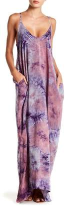 Love Stitch Tie-Dye Gauze Maxi Dress